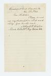 1862-12-05  Nathaniel Winslow requests a copy of his descriptive list