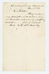 1862-12-05  John F. Ireland requests a copy of his descriptive list