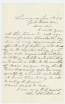 1863-01-05  Lee Strickland writes General Hodsdon and requests commission for son Charles
