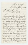 1863-01-17  George J. Knowlton recommends Daniel Stinson for promotion to Captain