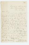 1863-01-17  Captain Clark writes Adjutant General Hodsdon