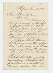 1863-01-19  J.H. Goodenow recommends Lieutenant Stinson for promotion