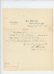1863-01-29  Special Order #47 regarding honorable discharge of Lieutenant Frank S. Russell for disability