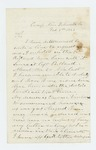 1863-02-05 Corporal Rufus Robertson requests a discharge from service