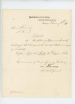 1863-02-06  Special Order 60 regarding honorable discharge of Captain Lysander Hill