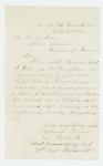 1863-02-19  Lieutenant Elisha Besse, Jr. recommends Sergeant Hiram Morse for promotion to lieutenant