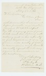 1863-02-28  1st Lieutenant Prentiss M. Fogler recommends Sergeant William Bickford for promotion