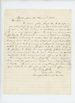 1863-03-01  Lysander Hill recommends Sergeant William K. Bickford for promotion