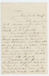 1863-03-07  George G. Perceval requests a position as Assistant Surgeon