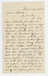 1863-03-11  George W. Bosworth writes Governor Coburn regarding reports of mistreatment of soldiers by the Quartermaster