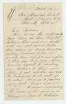 1863-03-16  Lorenzo Hall and A. Pray request transfer from the General Hospital to Maine