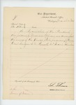 1863-03-21  Special Order 133 regarding dismissal of Assistant Surgeon S.A. Bennett for incompentence, by order of President Lincoln