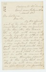 1863-03-25  Surgeon N.P. Monroe requests an assistant surgeon due to the number of sick soldiers