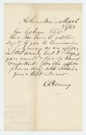 1863-03-28  C.L. Young protests against petition for promotion of T. J. Young