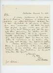 1863-03-30  N.R. Bartlett recommends Dr. George G. Perceval for surgeon