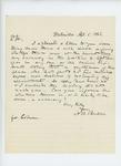 1863-04-05  N.R. Burtelle inquires about assistant surgeon position