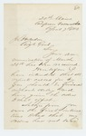 1863-04-07  Colonel Ames writes to Adjutant General Hodsdon