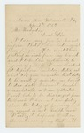 1863-04-07  Benjamin F. Ramsdell requests a discharge due to loss of finger