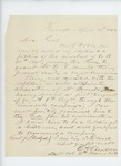 1863-04-13  Lieutenant Colonel C.H. Chandler of the 6th Maine Regiment recommends W.H. Merrill for promotion