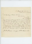 1863-04-28  N.P. Monroe requests promotion of Hospital Steward G. Baker to Assistant Surgeon