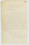 1863-05-09  Lieutenant William Morrell, Company H, writes on behalf of Corporal John M. Libby