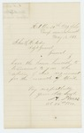 1863-05-13  Colonel Ames sends the April monthly return [not attached]