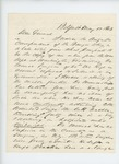 1863-05-17  A.W. Johnson inquires about dismissal of Dr. Monroe, saying it is a mistake