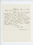 1863-05-19  A.W. Johnson requests facts regarding revocation of dismissal of Dr. Monroe
