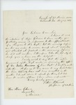 1863-05-21  Chaplain Luther D. French recommends Dr. John Benson for surgeon