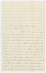 1863-05-23  Philena Higgins requests her brother William H. Foss be discharged due to ill health