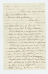 1863-05-28  C. Prince recommends Ellis Spear for promotion instead of Captain Clark