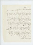 1863-06-26  Dr. John Benson accepts a commission as surgeon and requests Dr. Porter as assistant