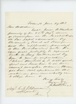 1863-06-29  John H. Rice recommends Captain Isaac W. Haskell for position in the medical corps