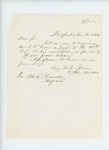 1863-06-30  Dr. John Benson inquires about a travel pass to the regiment to be mustered in