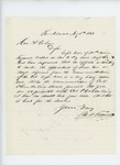 1863-07-05  M.A. Farwell writes Governor Coburn regarding recommendation of Colonel Chamberlain