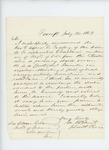 1863-07-14  John H. Rice recommends Reverend Alfred C. Godfrey for chaplain