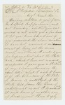 1863-07-20  John Pool, Jr. writes from McClellan Hospital in Philadelphia inquiring about state aid for enlisting