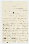 1863-07-23  J.M. Kennedy writes from the US General Hospital requesting transfer to hospital in Maine or New York