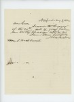 1862-08-09  John Benson wishes to be appointed surgeon