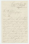 1863-08-13  C.C. Hayes writes Governor Coburn about the status of the regiment
