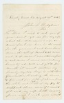 1863-08-30  Private Moses G. Rice requests help in obtaining state aid for his wife