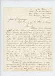 1863-10-03  Lieutenant Colonel Gilmore encloses letters of commendation for Joshua Chamberlain