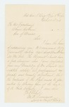 1863-10-23  M.W. Townsend recommends Assistant Surgeon Abner Shaw for promotion