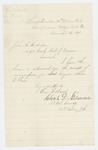1863-11-16  Charles Gilmore acknowledges receipt of commission for Abner O. Shaw as surgeon