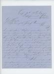 1863-12-09  Captain Prentiss Fogler sends regimental report to General Hodsdon