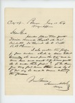 1864-01-18  Samuel Dale requests Daniel Howard Royal be placed in town quota and inquires about Gilbert Connelly