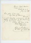 1864-01-27  Colonel Gilmore recommends Reverend Godfrey of Foxcroft for chaplain