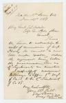 1864-01-29  Major Ellis Spear recommends William Griffin for promotion