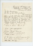 1864-02-01  Atherton W. Clark and other officers recommend the appointment of Reverend Aaron H. Esty as chaplain
