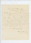 1864-02-11  Captain Walter G. Morrill recommends Lieutenant William W. Morrell for Major